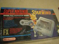 SNES CONSOLE PACKAGED WITH STARWING – FACTORY SEALED