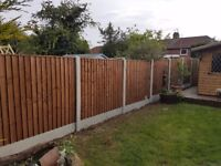 Fencing supplied and fitted fence panels posts gravel boards