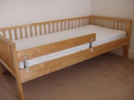CHILD'S BED WITH MATTRESS V.G.C.