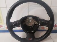 Audi A4 B8 S Line Mutlifunction steering wheel, PADDLE SHIFT AUTO FUNCTION