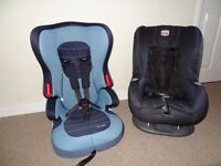 Two Fwd facing Car seats, 9-18kg and 18-36kg.