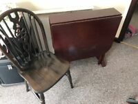 Foldable table and two chairs