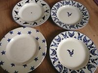 Emma Bridgwater Plates x 4 Used condition
