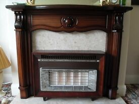 FIRE SURROUND & MISERMATIC GAS FIRE