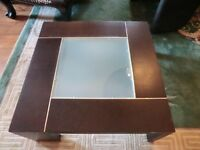 Coffee Table , with glass center , very smart , very good quality