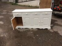 Solid pine sideboard in white ideal project