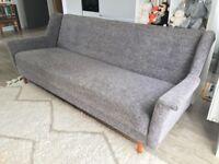 Vintage Retro Mid Century Click Clack Daybed Sofa Bed