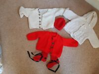 Hand knitted baby bundle for sale