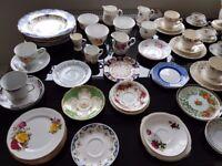 Job lot of vintage teacups and saucers