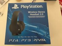 PS4 wireless headset with box with all the accessories