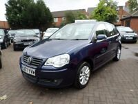 VW POLO O7 REG (2007) FULL SERVICE HISTORY, DIESEL, 2 OWNERS, BLUE, ONLY £30 TAX A YEAR