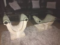 Coffee table + matching lamp table