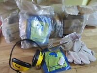 New in packet. SEP 4 Safety Pack; Riggers gloves, goggles, marsk, ear defenders BS5108. kite Marked.