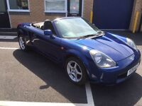 2001 Toyota mr2 convertible with hardtop1.8 Vvi 12 months mot 3 months parts and labour warranty