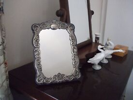 Silver Plated Freestanding Mirror