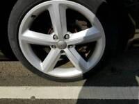 """Audi a6 18"""" alloys. 3 new tyres"""