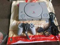 Ps1 PlayStation console with 3 games