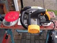 JCB POWER MASTER Circular Saw (JCBE-CS185) in hard case - Great Condition