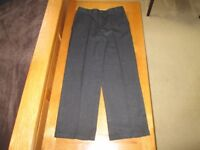 Boys school trousers in charcoal, age 9 - 10 years