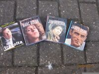 4 Miniture Books titled Jimi Hendrix, James Dean, Marc Bolan and John Travolta