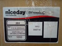 3900 White Niceday DRI-seal DL Envelopes 110 x 220mm from Viking – New boxed