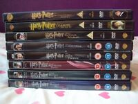 Harry Potter 1-8 DVDs