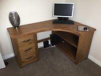 NEXT Solid Wood Corner Desk