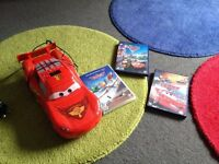 Disney cars cd player with 3 dvds