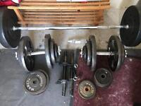 Various gym weights