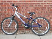 "Girls Mountain Bike, Magna Vienna 15"" frame, 24"" wheel, 18 gears, 'tuned up' at cycle shop. £40 ONO"