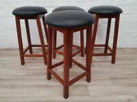 Four Substantial Bar Stools (DELIVERY AVAILABLE)