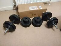 30 kg body max dumbbell kit almost new for Immediate sale