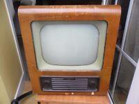 Vintage Bush valve television, 1950s type TV43 for restoration or display