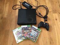 Xbox 360 console plus 3 games