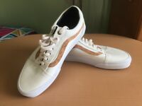 Mens Vans Old Skool Cork Twill/White Trainers size 8 UK