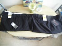 2 PAIRS NEW TROUSERS WITH LABLES 44 W 29 L.