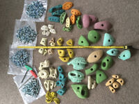 Complete Climbing Wall Kit including Holds, Bolts, Nuts, Drivers and Wooden Boards
