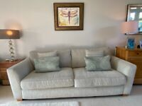 Large 3 seater DFS Sophia sofa, range still current, pearl combination, good used condition