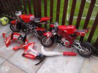 2 liquid cooled mini motos
