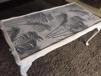 Shabby chic upcycled coffee table