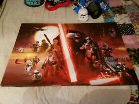 Large star wars canvas