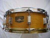 "Tama Artwood solid maple snare drum - 14 x 5 1/2"" - Japan - '80s - BITSA"