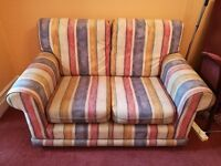 Ikea 2 Seater Sofa Small Compact Snuggler Stripey Multicoloured Cloth