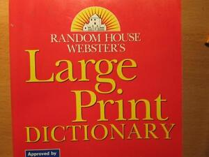 Webster's LARGE print dictionary, for visually handicapped