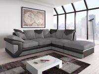 FAST DELIVERY**BRAND NEW SOFT FABRIC DINO CORNER OR 3+2 SEATER SOFA IN BROWN/BEIGE, BLACK/GREY COLOR