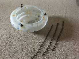 1030's ceiling shade. Fly catcher. Lovely vintage item