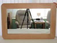OAK FRAMED WALL MIRROR (COLLECTION ONLY)