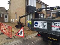 Grab hire, muck away and plant hire, Cambridge, Newmarket and Ely