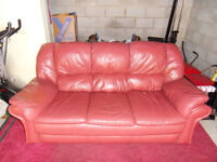 3 seater leather sofa FREE for collection