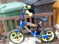 Child's first two wheeler bike.